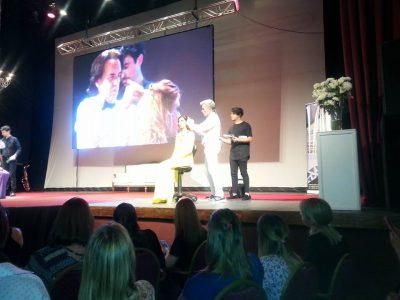 Bruno Salas sobre el escenario